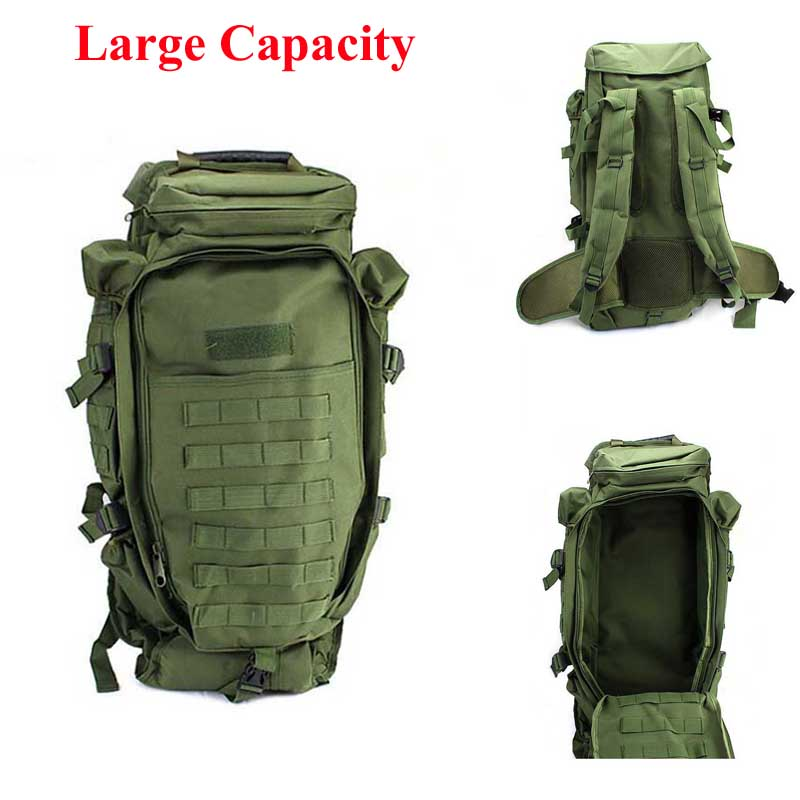 Multi-purpose Military Tactical Backpack Outdoor Sport Climbing Camping Backpack Hunting Travelling Trekking Hiking Bag 5 Colors 50l multifunction sport bag molle tactical bag water resistant camouflage backpack for outdoor climbing hiking camping 8 colors