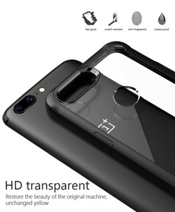 Image 5 - Oneplus 5t Case shockproof Clear Case For OnePlus 5t 5 6 Soft TPU Silicone+Hard Acrylic transparent Full Protective Back Cover