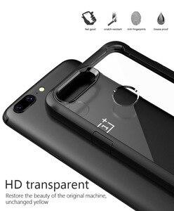 Image 5 - Oneplus 5t étui antichoc étui transparent pour Oneplus 5t 5 6 Silicone souple + acrylique dur transparent couverture arrière de protection complète