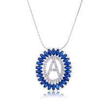 FYM Fashion Letter A Shape 4 Colors Cubic Zirconia Stone Wedding Necklaces Crystal Jewelry Statement Necklace For Women Party fym fashion flower statement crystal rhinestone cubic zirconia necklaces