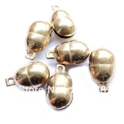 NBB412 прекрасные бобы Латунные Колокольчики 3#, 45x32 мм, 10 шт./партия, арахисовые ветровые колокольчики, лучшее предложение золотые металлические бусины
