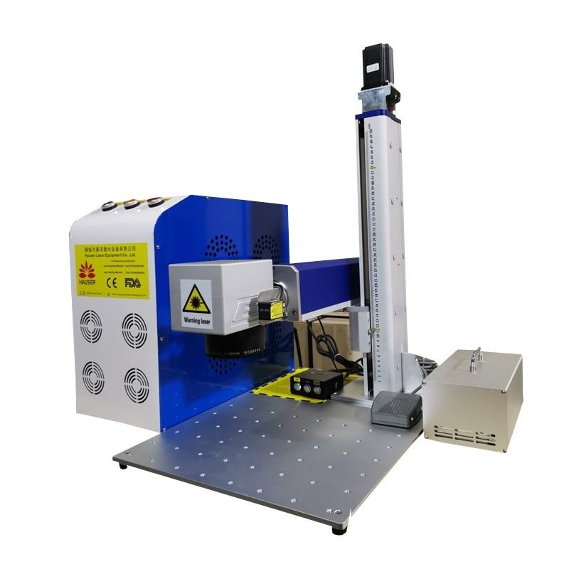 30W raycus fiber laser marking machine metal marking machine auto focus laser engraving machine nameplate stainless steel