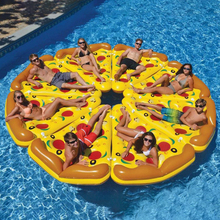 Inflatable Pizza Swimming Floats Water Pool Toys Inflatable Swim Ring For Fun Adult Giant Swimming pool Toys Air Mattress 180cm pineapple swimming float air mattress water gigantic donut pool inflatable floats pool toys swimming float adult floats