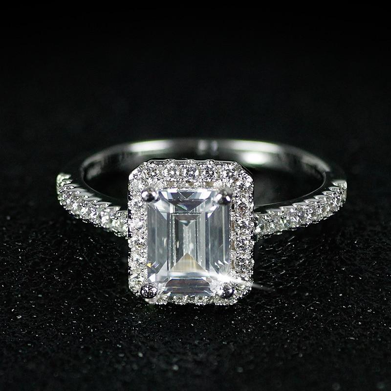 925 anillos de bodas de Compromiso de Plata Esterlina para Las - Bisutería - foto 3
