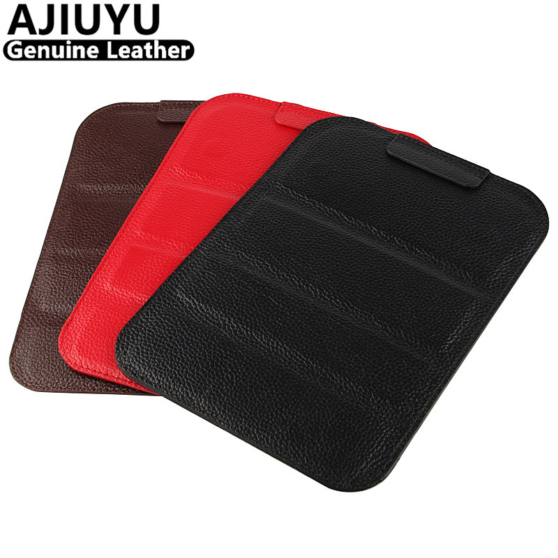 AJIUYU Genuine Leather For Apple iPad Pro 9.7 inch Case Cowhide Protective Shell Smart Cover Protector Tablet Pro9.7 Case Sleeve case for apple ipad pro 9 7 inch protective shell smart cover pu leather back cases tablet pc for ipad pro9 7 ipad7 9 7 covers