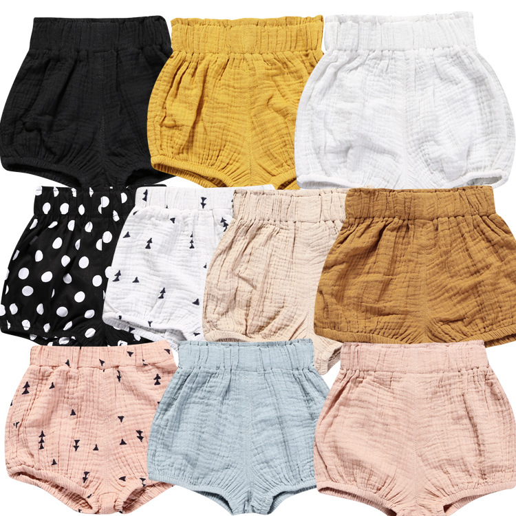 2018 Diaper Cover Infant Baby Summer Shorts Solid PP Shorts Triangle Pants Elastic Waist in Pants from Mother Kids