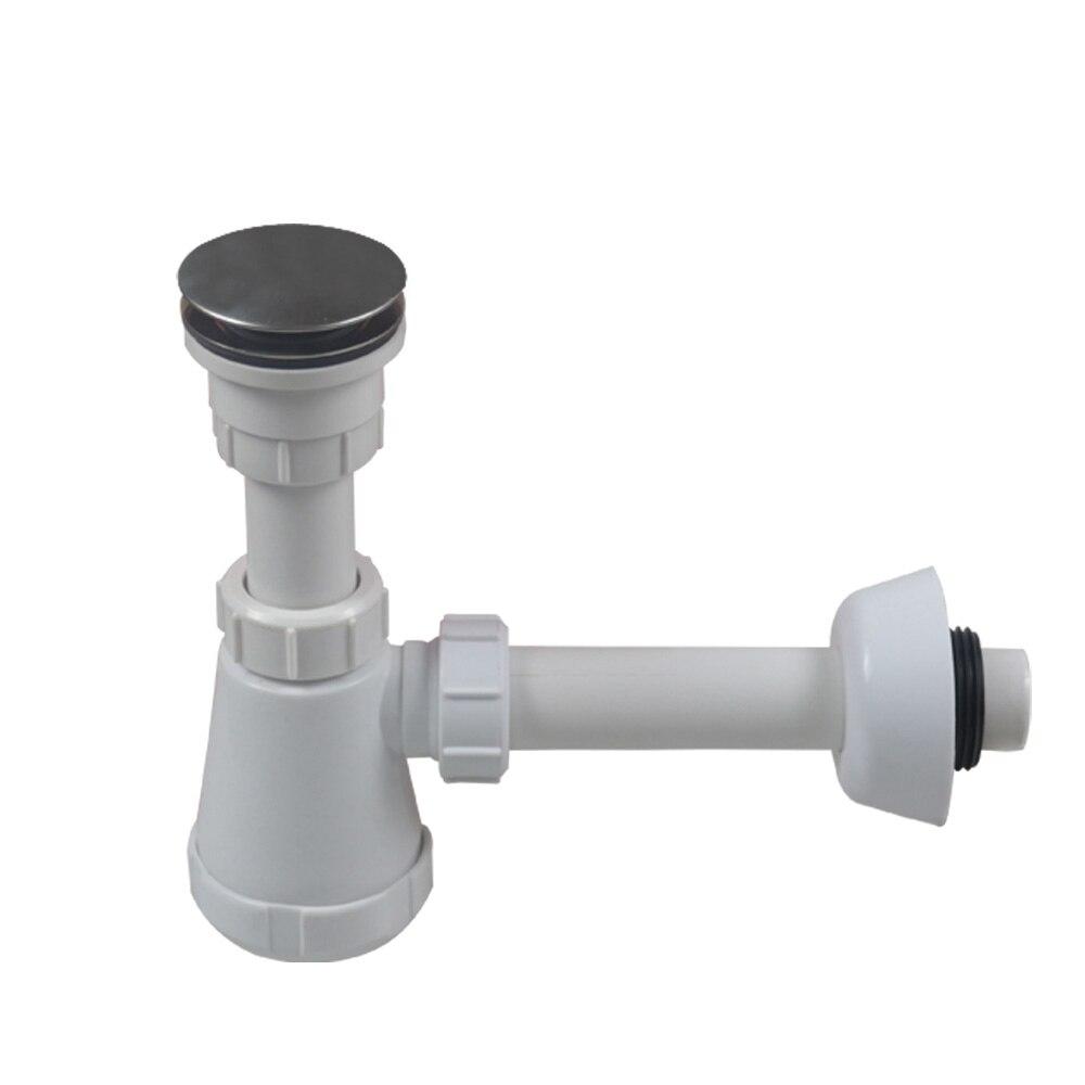Talea Talea Bathroom sink waste kit Basin strainer with Drain hose into the wall Bath Drain Filter Plastic Flexible Flume Pipe