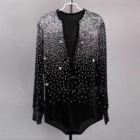 Men's Latin Dance Top Shirt For Ballroom Dancing Salsa Tango Standard Performance Costume 2015 New Arrival Factory Direct Fabric