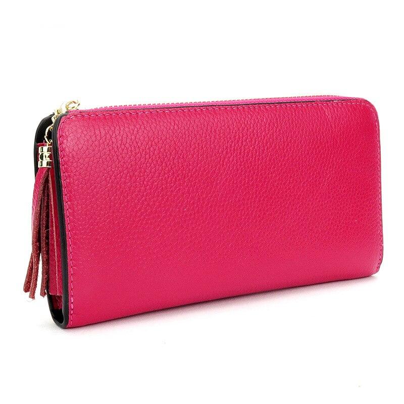 KYERIVS Fashion Wallets Brand Coin Purse Genuine Leather Wallet Women Purse Card Holder Long Clutch Purses