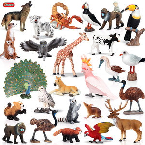 Image 1 - Oenux現実的な野生動物アクションフィギュア動物園虎馬オウム鳥固体pvcモデル置物かわいいおもちゃ子供のためギフト