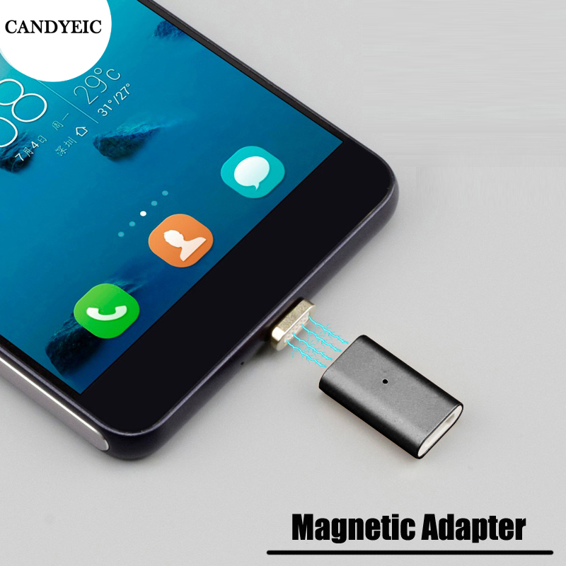 CANDYEIC Micro USB Magnetic Adapter For HUAWEI Moto Cable, Magnetic Charging For SAMSUNG HTC Sony Xperia XIAOMI MEIZU LG Cable