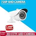 AHD 720 P HD 1.0MP Bala CCTV Câmera de Segurança Ao Ar Livre 36 IR Night Vision Black para Sistema de câmera de Segurança