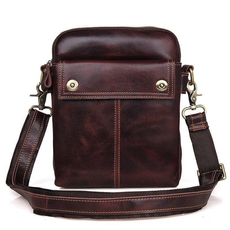 Men Messenger Oil Wax Handbag Leather Shoulder Bags Crossbody Purse Vintage New