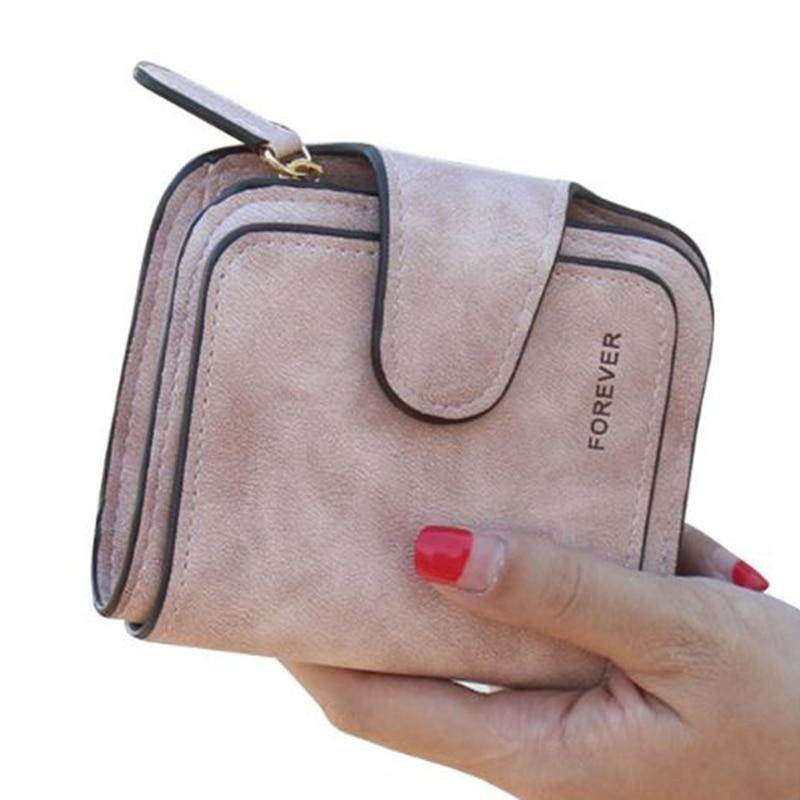 2018マットレザー女性財布ファッション小さな女性財布ヴィンテージレディースレタージッパーショートクラッチ女性財布cartera mujer