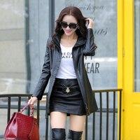 Medium Long Genuine Leather Sheepskin Ladies Trench Coat Women Long Trench Coat Fashion Plus Size British