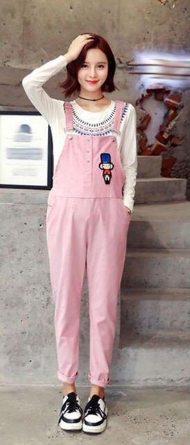 83aedd12404ac Women's Corduroy with Zipper Overall Maternity Jumpsuit Loose Rompers Baggy  Pants Pregnancy Bib panties Size L XL XXL DXM1919