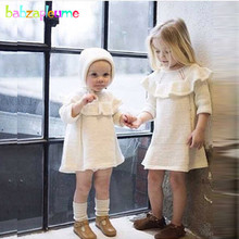 2 Piece/0-4Years/Spring Autumn Baby Girls Outfits Children Clothing Sets Knit Cute Toddler Dress+Hat Korean Kids Clothes BC1404 стоимость