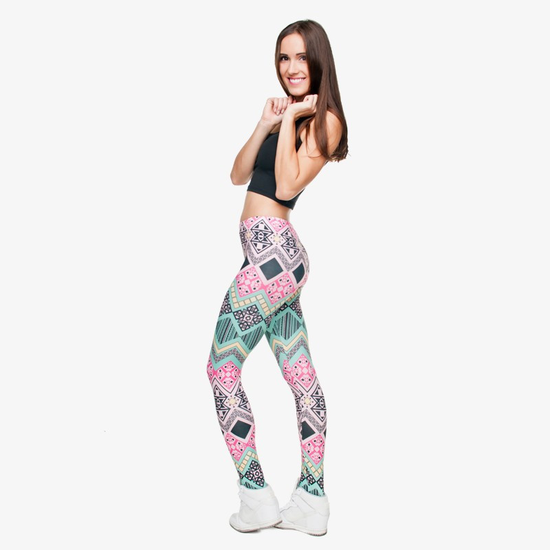 Zohra Brand New Fashion Aztec Printing legins Punk Women's Legging Stretchy Trousers Casual Slim fit Pants Leggings 12