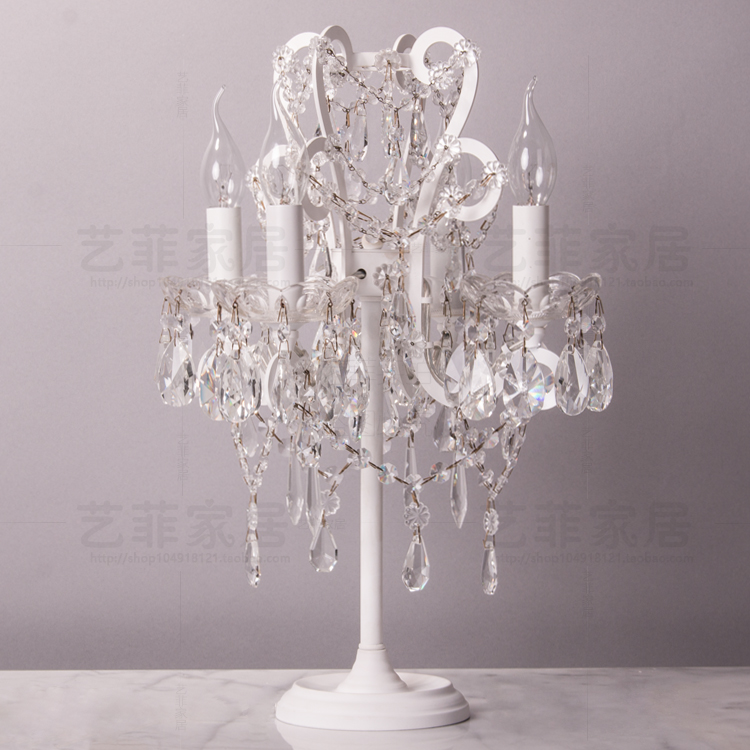 Aliexpress.com : Buy Antique Art Decor Crystal Table Lamp