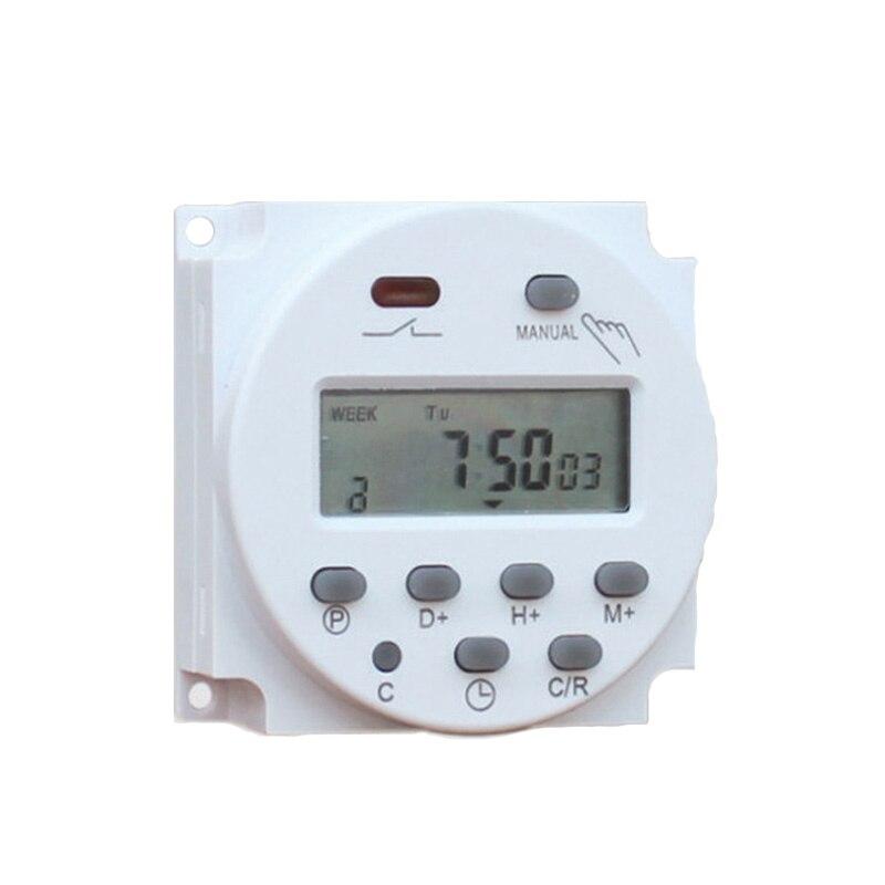 Alta Qualidade CN101A 12V 24V 110V 240V Digital LCD Poder Timer Programável Interruptor de Tempo Despertador interruptor do Temporizador da luz Nova