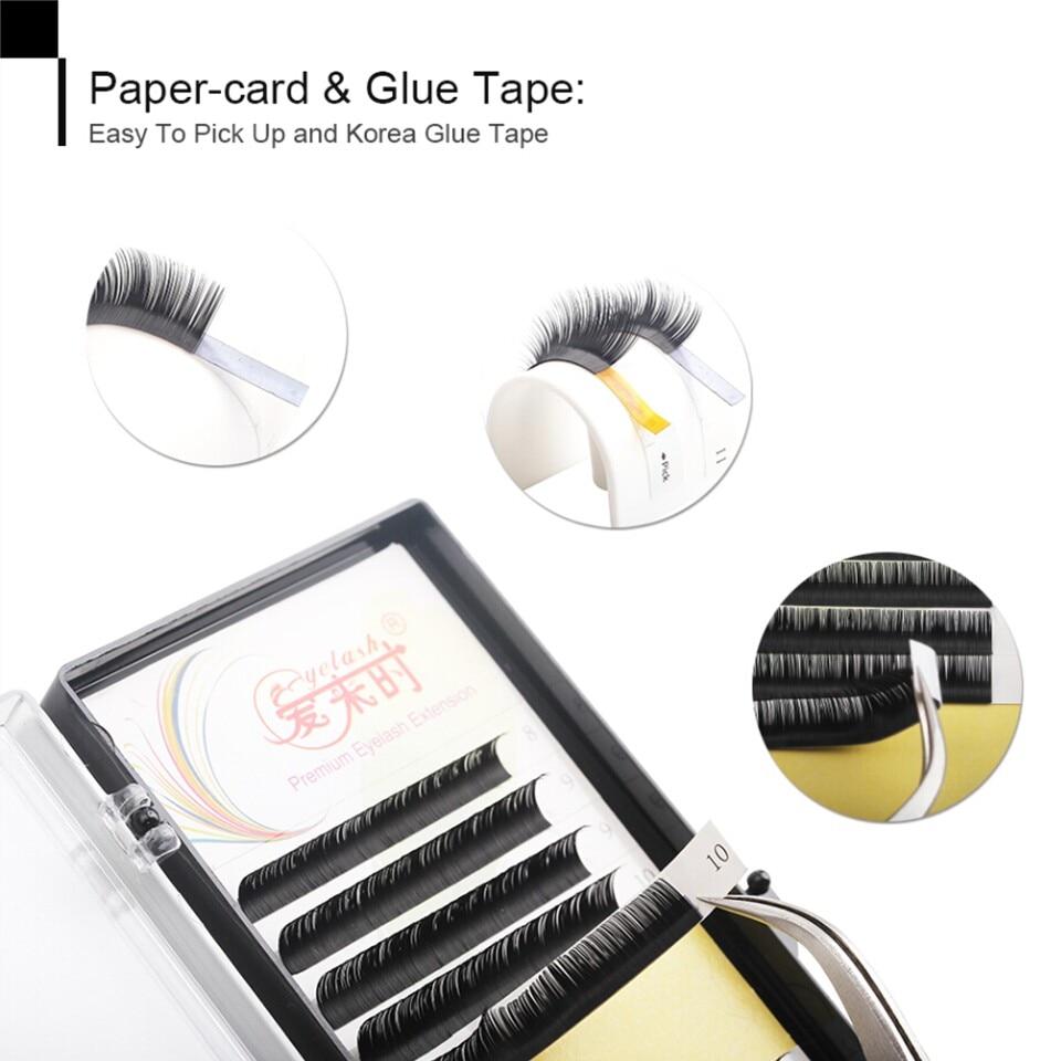 Wholesale 1 Tray Eyelash Extensions All Size Individual Eyelash Extension Fake False Eyelashes BCD Curl Natural Long Silk Lash