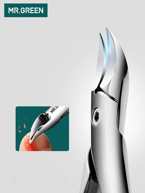 MR.GREEN Nail Clipper  manicure Tools Professional Stainless Steel Thick Toenails ingrown Cuticle Nipper  Trimmer Plier Scissors