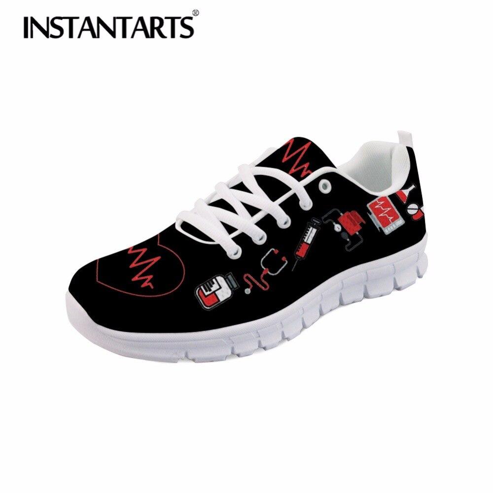 € 24.62 38% de DESCUENTO|Zapatillas de enfermera de dibujos animados lindas instantáneas de otoño transpirables con cordones Zapatos planos casuales