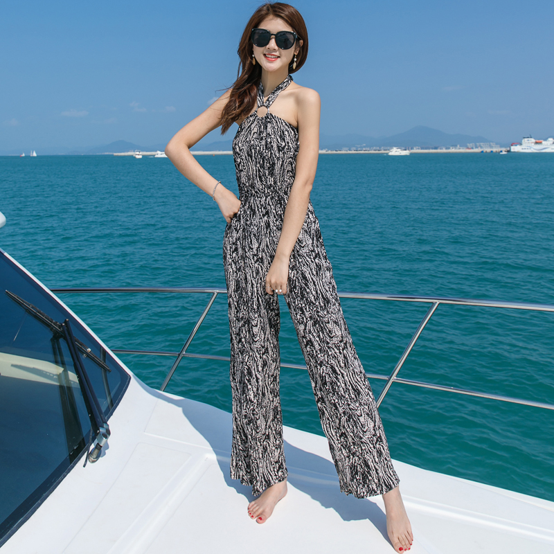 Tafforda 2018 Summer Beach Spaghetti Strap Body Suit Female Lanon Voile Casual Holiday Seaside Sexy Barefoot Seaside Clothes