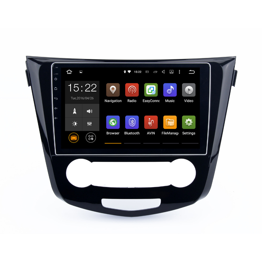 Android 5.1.1 2 DIN Car Radio player for Nissan Qashqai 2014 2015 with mirror link navi browser radio Head unit Quad Cord