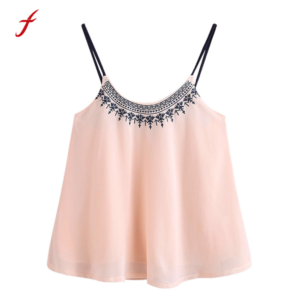 Summer Women Chiffon Sleeveless Vest Top Ladies Casual Loose Tops Fashion Blouse Products Hot Sale Blouses & Shirts