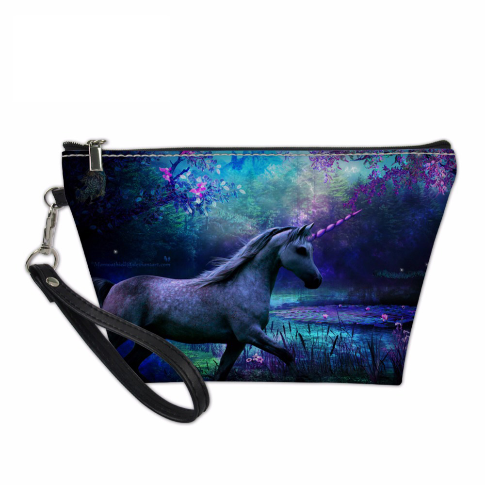 NOISYDESIGNS designer cosmetic bag Cases Unicorn Sweet Make Up Functional Case Travel Organizers Bags Teens Girls Toiletry Bag