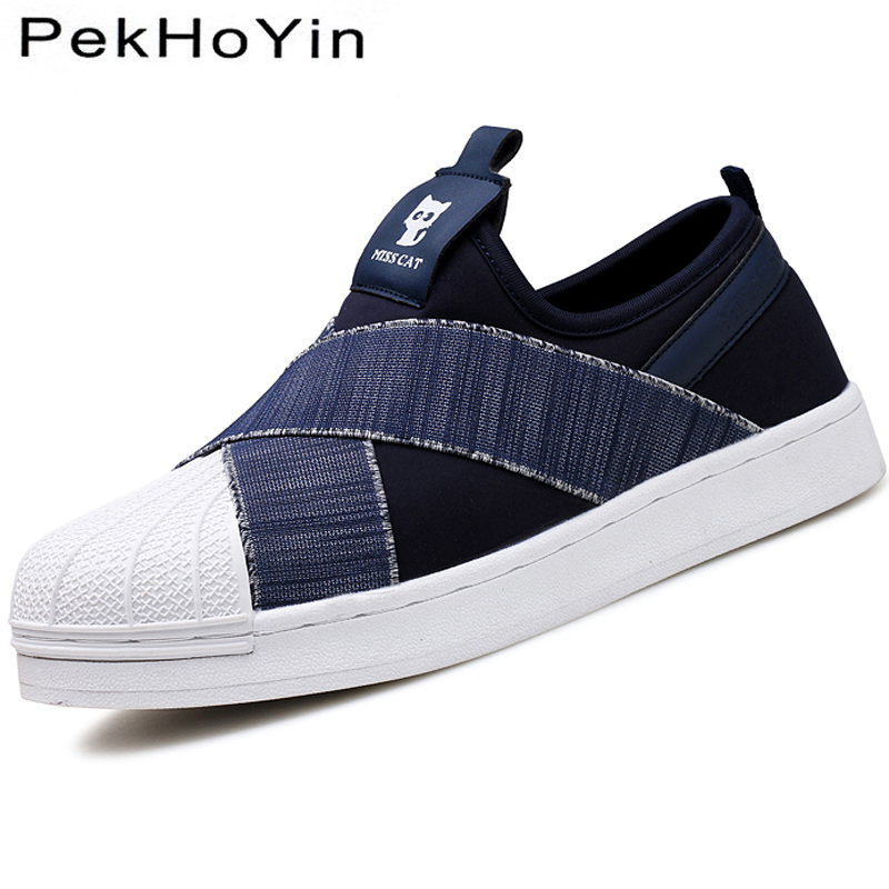 Fashion Canvas Men Casual Shoes Brand Footwear Autumn Male Flats Shoes Rubber Mens Shoes Sales White Flat Designer Shoes Black