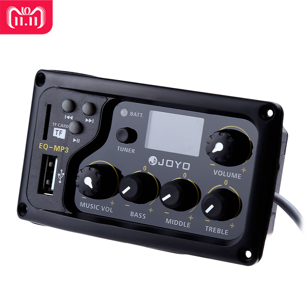 JOYO EQ-MP3 Acoustic Guitar MP3 Equalizer Music Volume Bass Middle Treble Presence Captador LCD Digital 3 Band EQ Pickup Preamp купить в Москве 2019