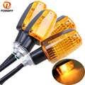 POSSBAY 4 pièces Universel De Clignotant de Moto Clignotant Ampoule 12V 10W Ambre pour Honda Kawasaki Suzuki Yamaha Clignotant Lampe