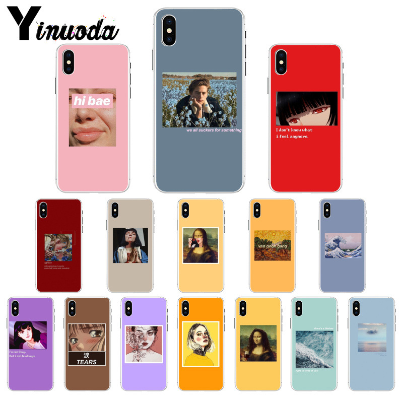 Flavor In Rapture Maiyaca Bts Band Diy Painted Beautiful For Iphone 4s 5c 5s 6s 7 8 Plus X Xr Xs Max Phone Cases Transparent Soft Tpu Cover Cases Fragrant