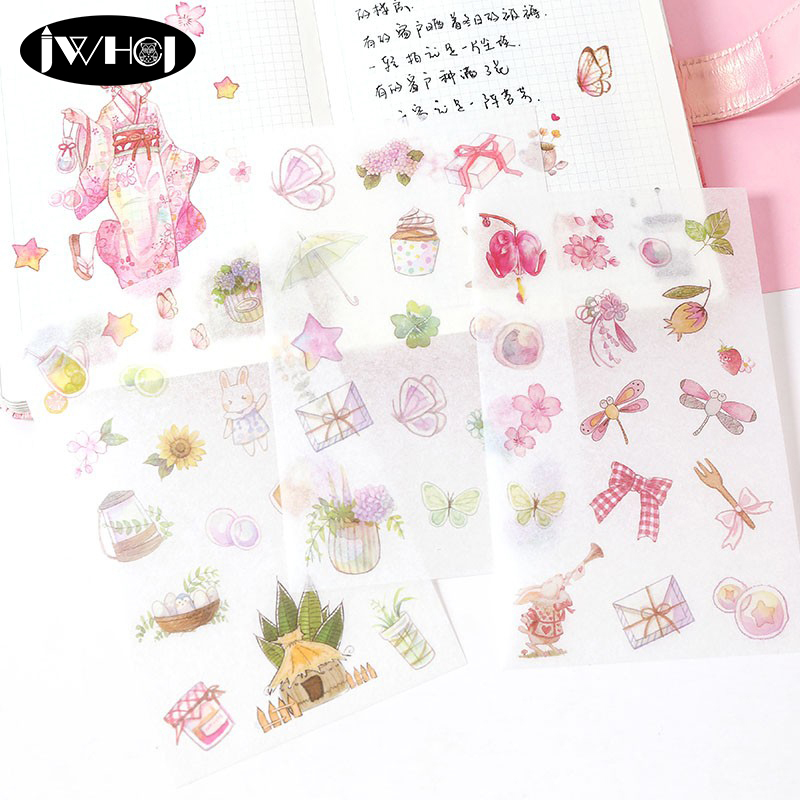 45pcs house cat paper decor diy diary scrapbooking label sticker JC