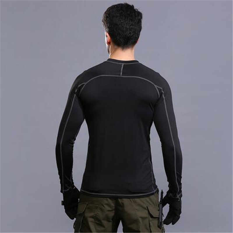 Di Luar Ruangan Lengan Lengan Lengan Lengan Panjang Taktis T Shirt Pria Kaos Army Militer Tshirt Sport Kering Tee Ukuran Roupas mascmascul