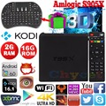 T95X 2G/16G Android 6.0 Amlogic S905X Quad core Set top box Android Caixa De TV 2.4G WIFI KODI H.265 HDMI Media Player caixa Smart tv
