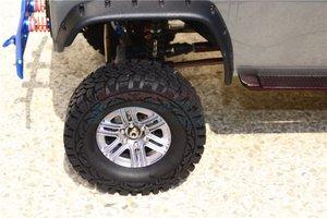 Image 5 - TRX TRX 4 TRX4 82056 4 Алюминиевый сплав 6 полюсные колеса и гусеничная шина + 21 мм шестигранный адаптер набор TRX4689/21 мм