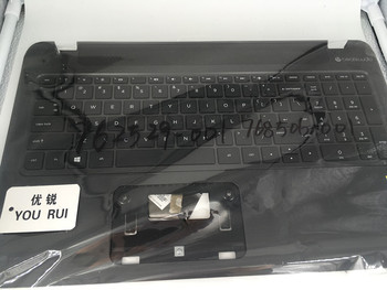 yourui Free Shipping  For HP Pavilion 15-P TOP Cover Upper Case With Keyboard 762529-001   768506-001