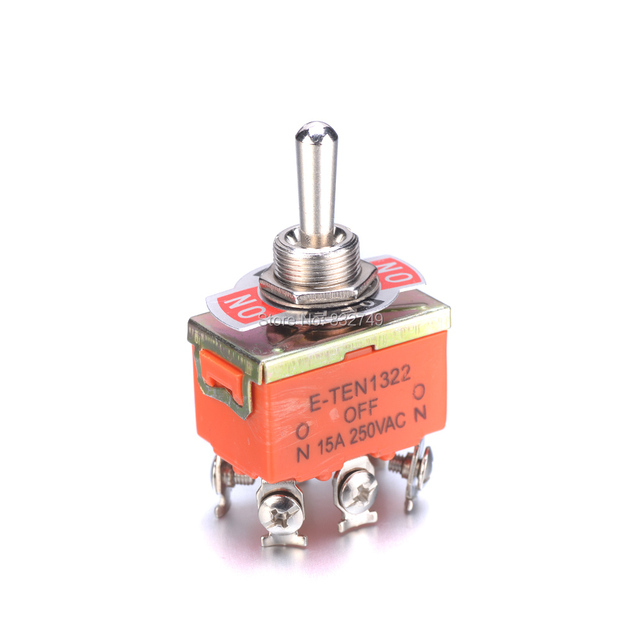 4/10PCS 250V 15A KN1322 Toggle Switch 6 Pins Touch On Off Switches Mini Small Switch Controlling The Circuits of AC or DC