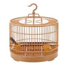 Plastic Round Bird Cage With Feeder and Waterer Bird stand Rod kit Pet Parrot Cage Bird feeding supplies Assembly Cage 1 Set(China)