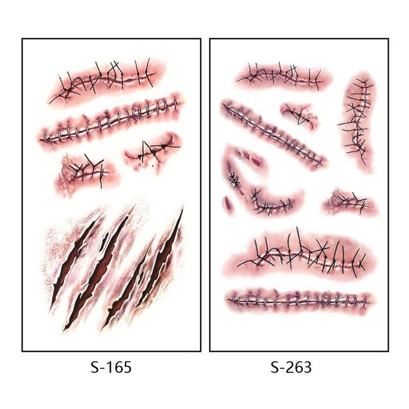 10 Sztuk 10560mm Wodoodporna Symulacji Naklejki Blizny