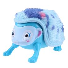 Electronic Sensors Interactive Pet Cartoon Design Hedgehog Toy Intelligent Touch Walk Somersault Light up Plush Soft