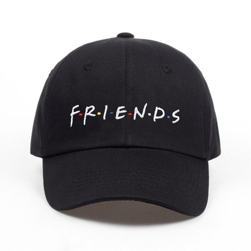 2018 new arrival FRIENDS letter embroidery baseball cap women snapback hat adjustable men fashion Dad hats wholesale