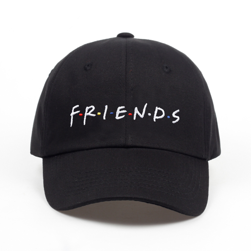 2018 new arrival FRIENDS letter embroidery   baseball     cap   women snapback hat adjustable men fashion Dad hats wholesale