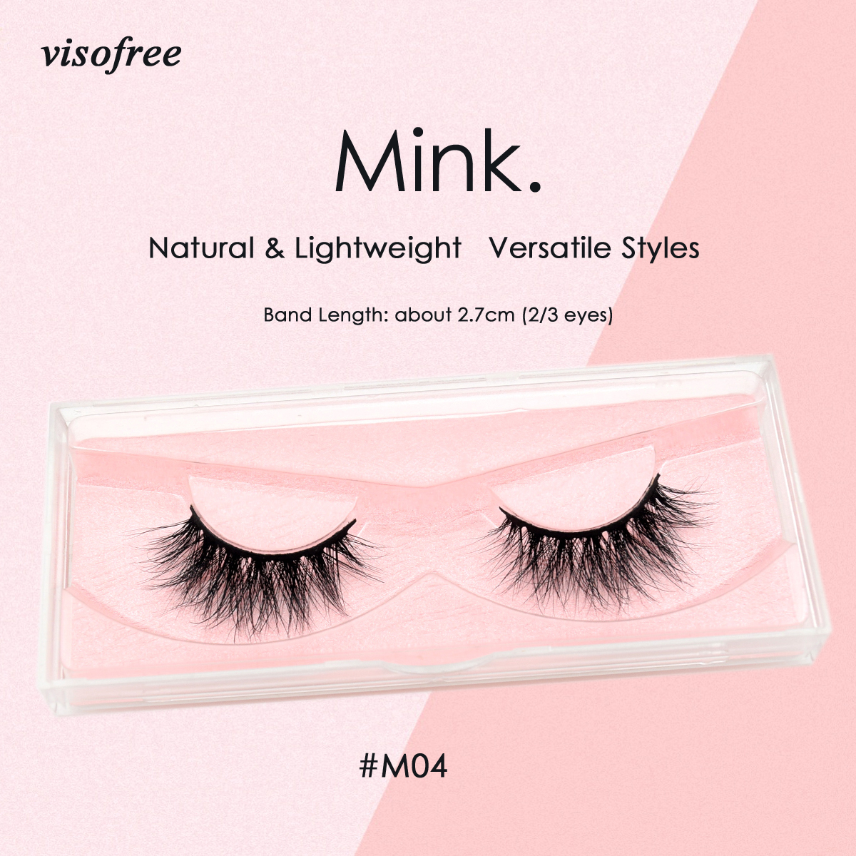 Visofree Lashes 3D Mink Lashes Cruelty Free Mink False Eyelashes Thick Long Handmade Mink Eyelashes For Makeup Faux Cils M04