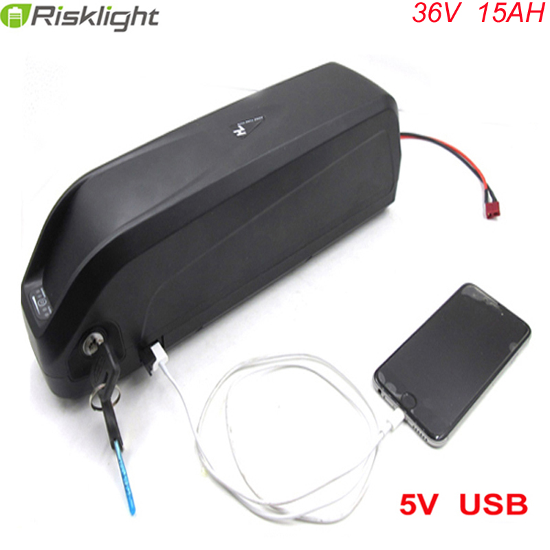 downtube type battery 36v 15ah lithium battery 36volt 500w battery pack with USB for Hailong electric bike with charger+bms free customs taxes super power 1000w 48v li ion battery pack with 30a bms 48v 15ah lithium battery pack for panasonic cell