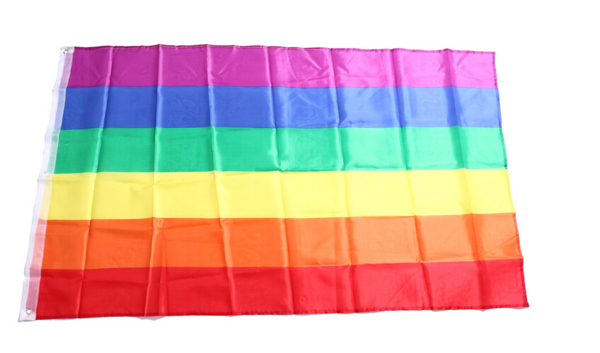 free shipping Rainbow Flag 3x5 Gay Pride Peace Flags gay flags LESBIAN PRIDE PEACE Pennants Flag in Flags Banners Accessories from Home Garden