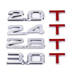 Dewtreetali Car 3D Metal 2.0 3.0 2.0T 3.0T T Logo Sticker Emblem Badge Decals for Mazda KIA Renault TOYOTA BMW Ford Car Styling